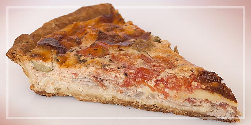 Quiche mozarella-rajčica-pršut